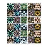 Gwotfy Adhesivos para Azulejos 30 Piezas Adhesivos para Azulejos de Mosaico Autoadhesivo Impermeable...