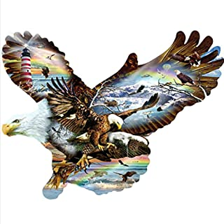 Keriqi 5D DIY Diamond Painting by Number Kits, Crystal Rhinestone Embroidery Pictures Arts Craft for Home Wall Decor - Eagle 11.8 x 11.8 Inch