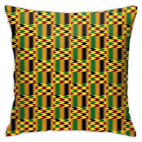 """LOSNINA Fundas de Almohada Diseño de patrón de repetición de Tela Africana Kente Sofá temático Sofá Sala de Estar Interior Exterior Decoración del hogar (18 """"* 18"""") 1 Pieza"""