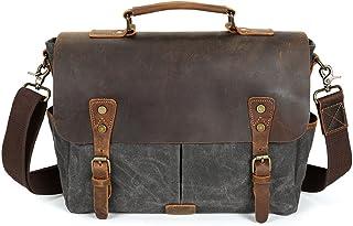 DQMSB Crossbody Mens Business Briefcase Outdoor Canvas Mens Shoulder Bag Color : Blue
