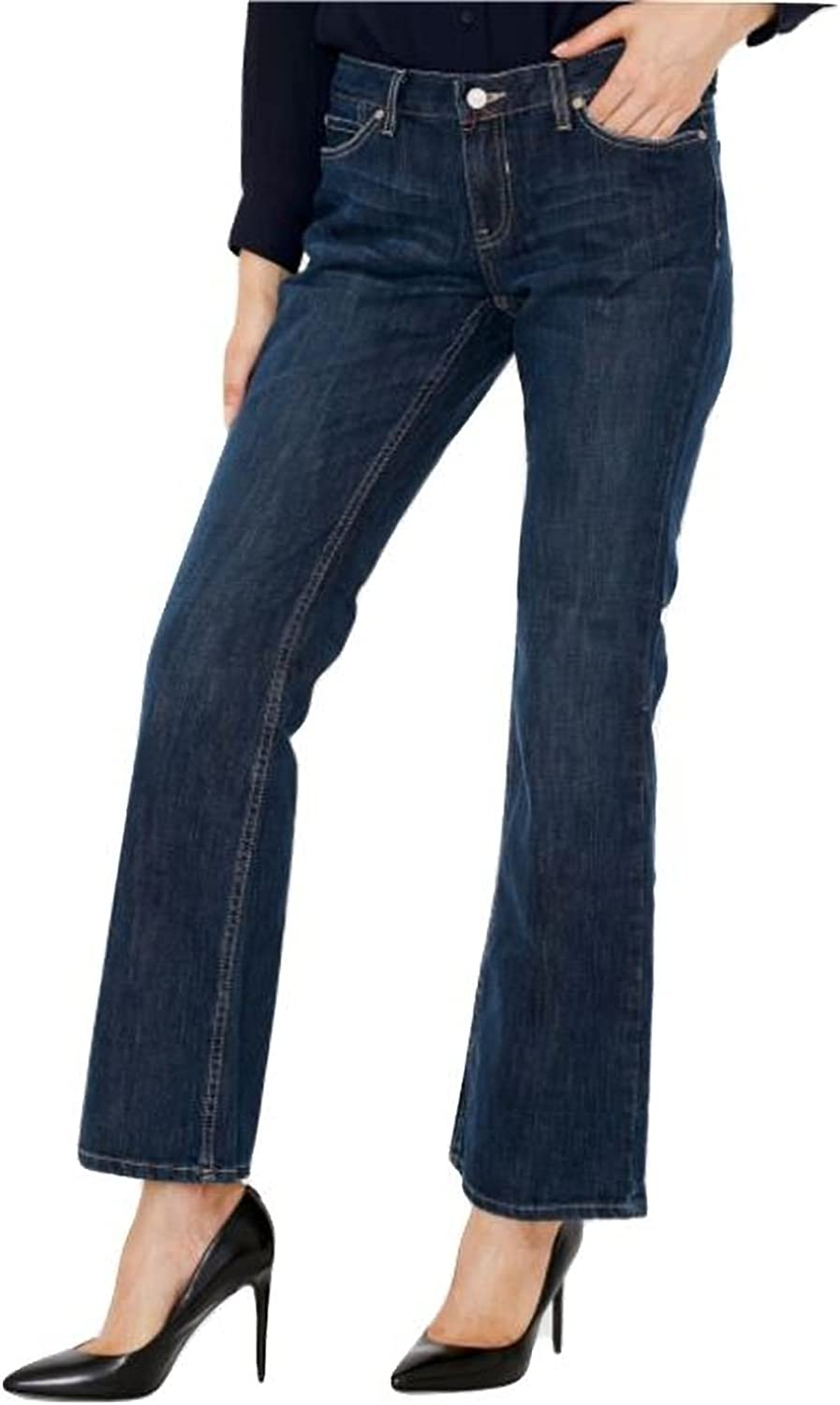 Canyon River bluees Women's Slim Boot Cut bluee Jeans  Light Distressed Stretch, Mid Rise, Fitted Cut