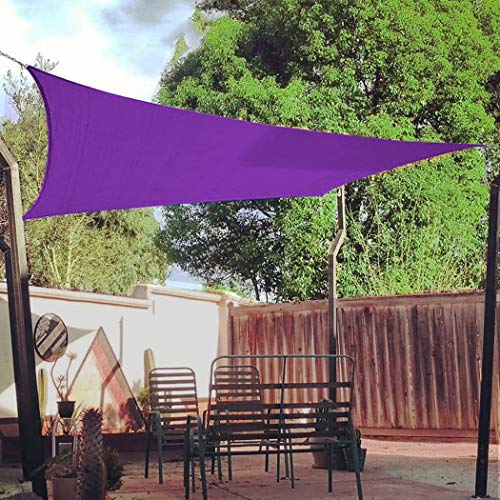 LONGSAND 10x13 ft(3mx4m) Sun Shade Sail Waterproof UV Block Canopy Backyard Outdoor Garden Pergola Thicker Awning Air Permeable Shade Block,Purple,10x13 ft(3mx4m)