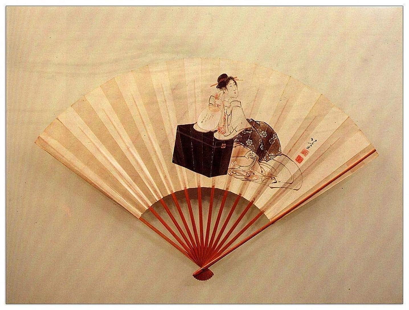 ArtPlaza TW90213 Hokusai Katsushika - Young Lady Decorative Panel 35.5x27.5 Inch Multicolored