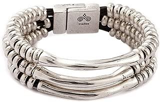 Trades by Haim Shahar Sasha Leather Bracelet handmade in Spain magnetic clasp