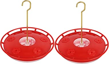 eWonLife Hummingbird Feeder for Outdoors Hanging, 2 Pack, Leak-Proof, Easy to Clean and Fill, Saucer Humming Feeder for Humme