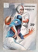 WASHINGTON & LEE (VA) SOUTHWESTERN (TN) COLLEGE FOOTBALL PROGRAM - 1966 - EX