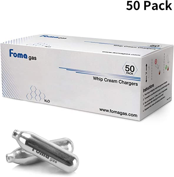 FOMA GAS Whip Cream Chargers 50 Pack