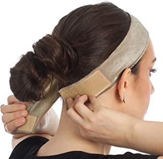 Velvet Wig Grip Band,Adjustable Comfort Head Hair Band for Women Keeps Wig Secured,Prevents Headaches & Hair Loss (Beige)