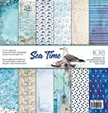 Pack de 12 Papeles (12'x12'/30,5x30,5cm) - Sea Time