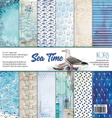 Pack de 12 Papeles (12x12/30,5x30,5cm) - Sea Time