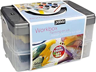 PEBEO Setasilk Silk Painting Atelier Collection Set, 10 Assorted 45-Milliliter Colors and Accessories