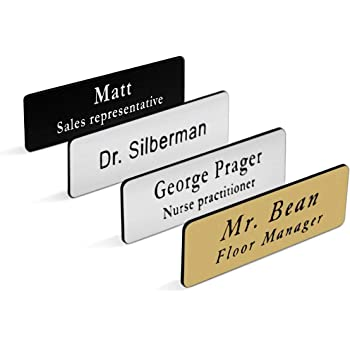 """1.5/"""" X3/""""  PERSONALIZED NAME TAG BADGE PIN CUSTOMIZED  FULL COLOR PRINTING"""