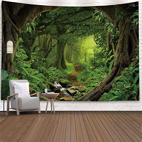 Tapiz grande hermoso bosque natural colgante de pared grande colgante de pared hippie tapices de pared bohemios decoración de arte de pared de mandala