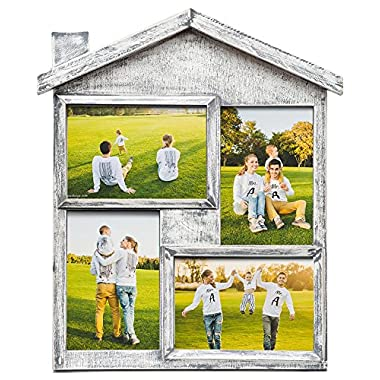 NICELY HOME Photo Frame Collage - Large Multiple Picture Frame Displays Four 4x6 Inch - Gift for Family Love & Best Friends