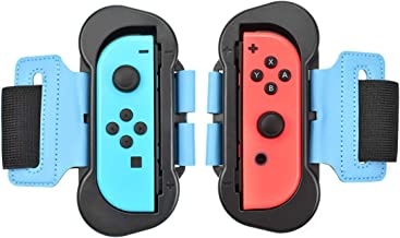 Powtree 2 Pack Adjustable Elastic Strap Wrist Dance Bands for Nintendo Switch JoyCon Controller Compatible with Just Dance 2019 Switch Games Standard Edition