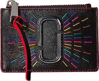 Marc Jacobs Womens Snapshot Confetti Top Zip Multi Wallet