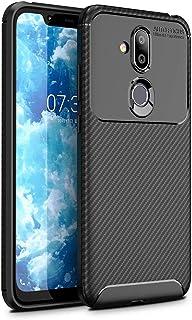 Nokia 8.1 Case, Nokia 7.1 Plus Case, Nokia X7 Case Slinco Flexible Soft TPU Slim Light Rugged Durable Armor Snugly Fit Case for Nokia 8.1/Nokia 7.1 Plus/Nokia X7 Nokia 8.1