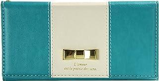 Natural Design 【iPhone 8/7PLUS専用】 手帳型リボンケース Ruban Turquoise 横開き レザー調 手帳型 カードポケット付 リングストラップ付