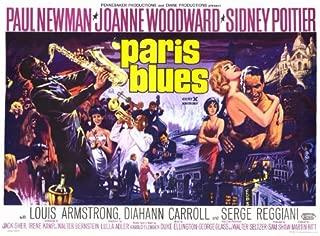 Paris Blues Movie Poster (11 x 17 Inches - 28cm x 44cm) (1961) Style B -(Paul Newman)(Sidney Poitier)(Joanne Woodward)(Diahann Carroll)(Louis Armstrong)(Barbara Lange)