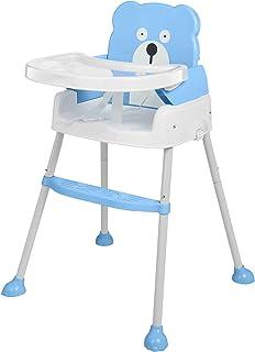 Arshiner 赤ちゃん用 多機能 ハイチェア 子供 お食事椅子 学習机 4wayベビーチェア 6ヶ月から6才まで お食事 おやつ 離乳食 テーブルチャア 組立 5点式安全ベルト 脱出防止 (BLUE) (ブルー)