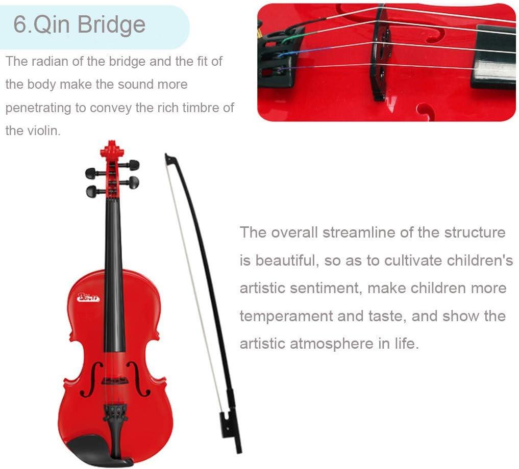 Lukame✯Juguete Educativo Para Instrumento Musical Para Guitarra Cl/ásica Para Viol/ín Para Principiantes Regalo del Ni/ño Ni/ño Amarillo