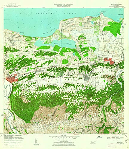 YellowMaps Manati PR topo map, 1:20000 Scale, 7.5 X 7.5 Minute, Historical, 1958, Updated 1962, 32.3 x 27.9 in - Paper
