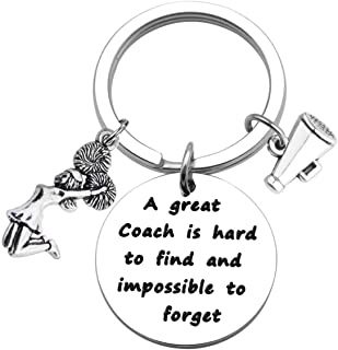 Cheer Coach Keychain Cheerleader Coach Gift A Great Coach is Hard to Find and Impossible to Forget Keychain