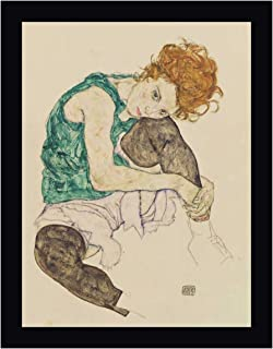 Seated Woman with Bent Knee by Egon Schiele 19