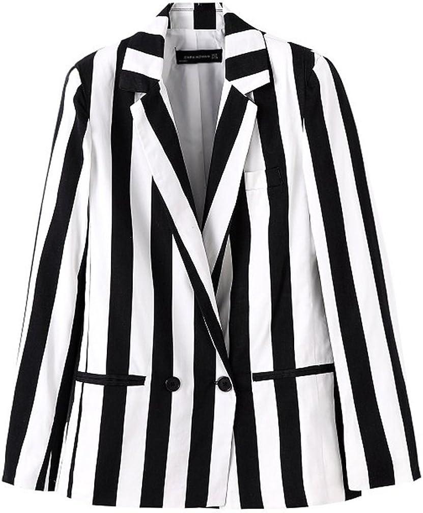 New item Beetlejuice Costume Women Black and Striped Blazer White Leisure Mesa Mall