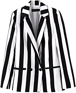 plus size black and white blazer
