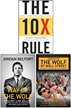 The 10X Rule [Hardcover], Way of the Wolf, The Wolf of Wall Street Collection 3 Books Set