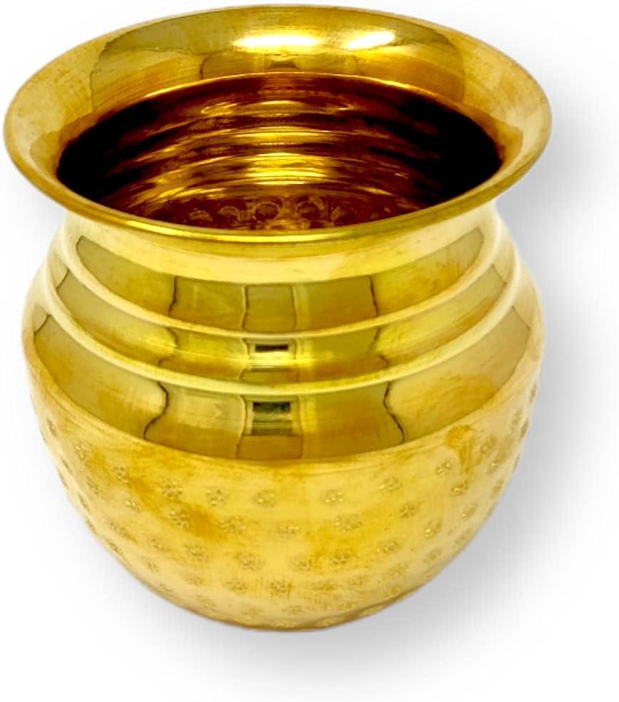 Bombing new work Hashcart Brass Metal Kalash Lota Max 69% OFF Galvanized Hand Fesi Indian for