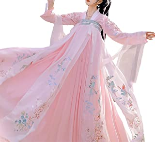 حانفو زي Hanfu Princess Costume for Girls and Women Chinese Traditional Dress Up Halloween Party Dress pink (Color : Pink,...