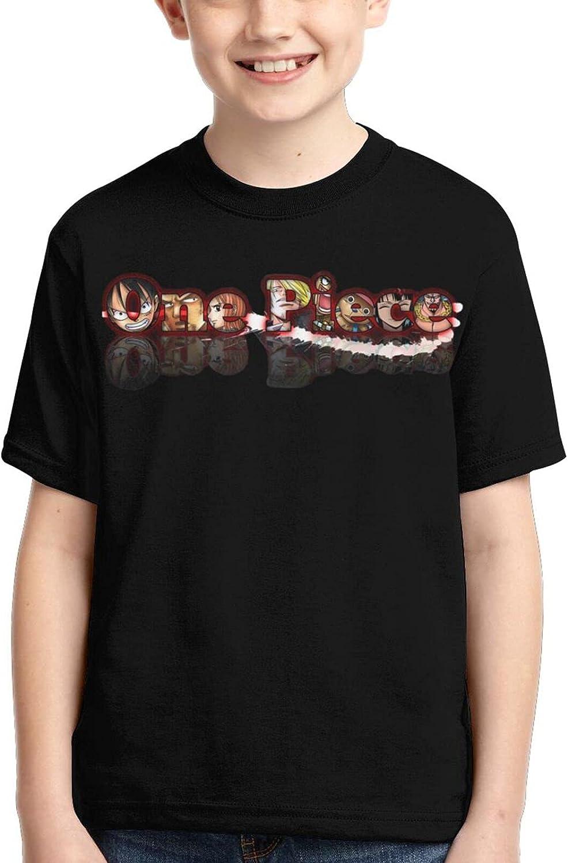 One Piece Logo Shirts Crew Neck Boy Anime T-Shirt Casual T Shirts Tops
