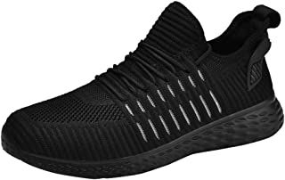 Yamall Women Mens Knit Running Shoes Mesh Breathable Fashion Sneakers Non-Slip Athletic Walking Sport Lightweight Gym