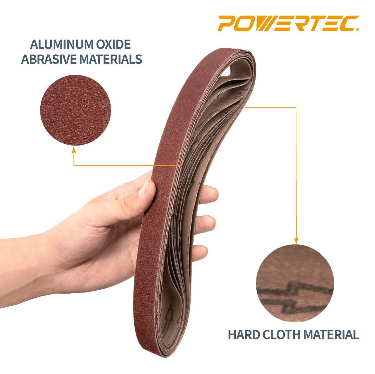 """5Pcs 1x30/"""" Sanding Belts 80//100//150//240//320 Grit Aluminum Oxide Sander Abrasive"""