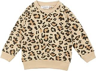 Xifamniy Infant Unisex Babies Sweatshirt Cotton Fashion Leopard Round Neck Pullover