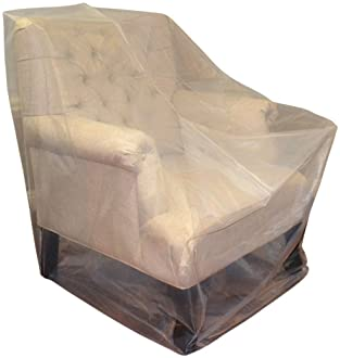 CRESNEL Furniture Cover Plastic Bag for Moving Protection and Long Term Storage (Chair)