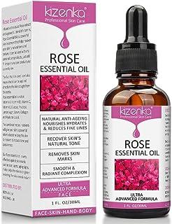 ¡Aceite esencial de rosa cuidado de la piel con vitamina C aclara las arrugas antienvejecimiento perfecto para aromater...