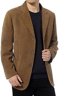 Zantt Mens Casual Plaid Check Faux Pu Leather One Button Blazer Jackets