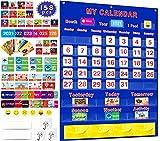 Calendar and Weather Pocket Chart Set of 158,...
