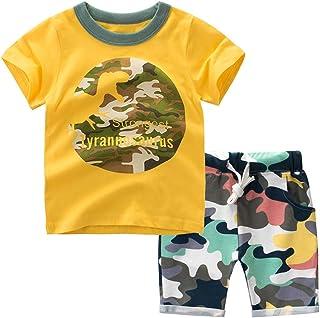 Pantalons de Camouflage 0-3Ans 2PCs V/êtements Gar/çons de Sport T-Shirt /à Manches Courtes Mini Boss BOBORA Ensemble B/éb/é Gar/çons