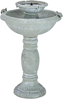 Smart Solar 34222RM1 Gray Weathered Stone Country Gardens 2 Tier On Demand