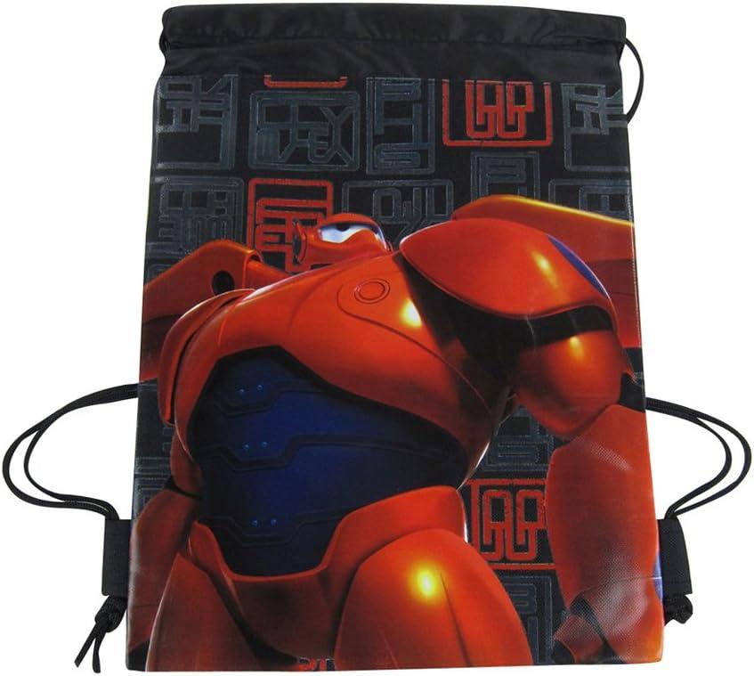 UPD Officially Licensed High quality Disney Drawstring Bag 6 Big Hero Brand new Black -