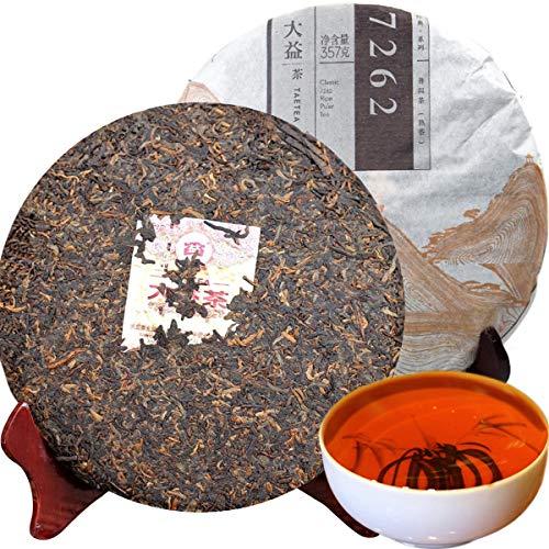 357g (0.787LB) Reifer Pu Erh Tee Alter Puer Tee Reifer Dayi Cake Tee Schwarzer Tee Gekochter Pu Er Tee Pu Er Tee Chinesischer Tee Gesunder Puerh Tee Roter Tee