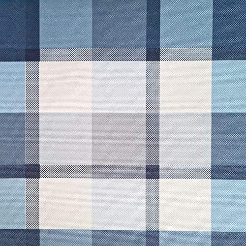 novely® OXFORD 210D | 1 lfm | Polsterstoff Polyester Outdoor Wasserabweisend Reißfest Dekostoff | D60 Karo Maxi Blau