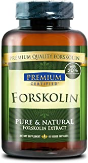 Forskolin Premium: 100% PURE Forskolin Extract - 250mgs - 60 Capsules - 1 Month Supply - Quick Fat Burner