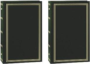 Álbum de fotos Pioneer STC-504/NB com 3 anéis com 504 bolsos para guardar 4 x 6 polegadas Fotos, Azul marinho, Hunter Gree...