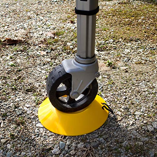 Camco Heavy Duty Wheel Dock with Rope Handle - Helps Prevent Trailer Wheel from Sinking Into Dirt or Mud, Easy to Store and Transport (44632), Yellow