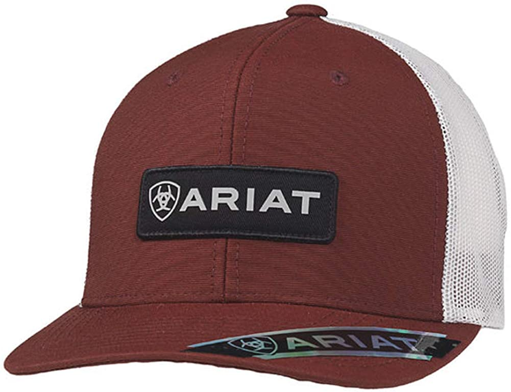 ARIAT Men's Cap with Logo Patch, Red